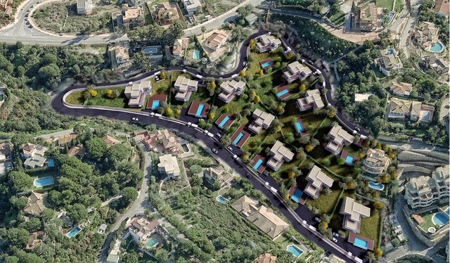 Proyecto de 11 villas con parcela en Elviria
