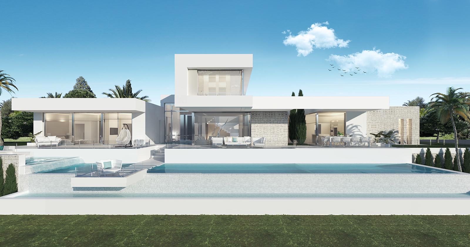 Exclusive plot with villa design in La Cala Golf