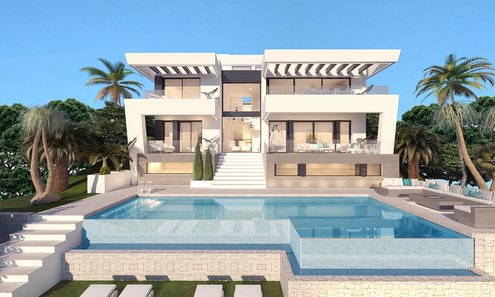 Exclusive plot with villa design in Mijas Golf
