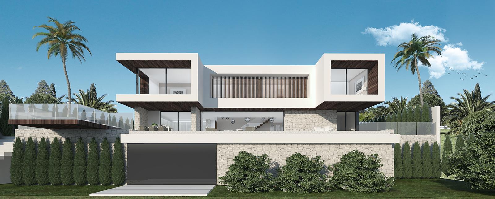 Exclusive plot with villa design in Lomas de Mijas