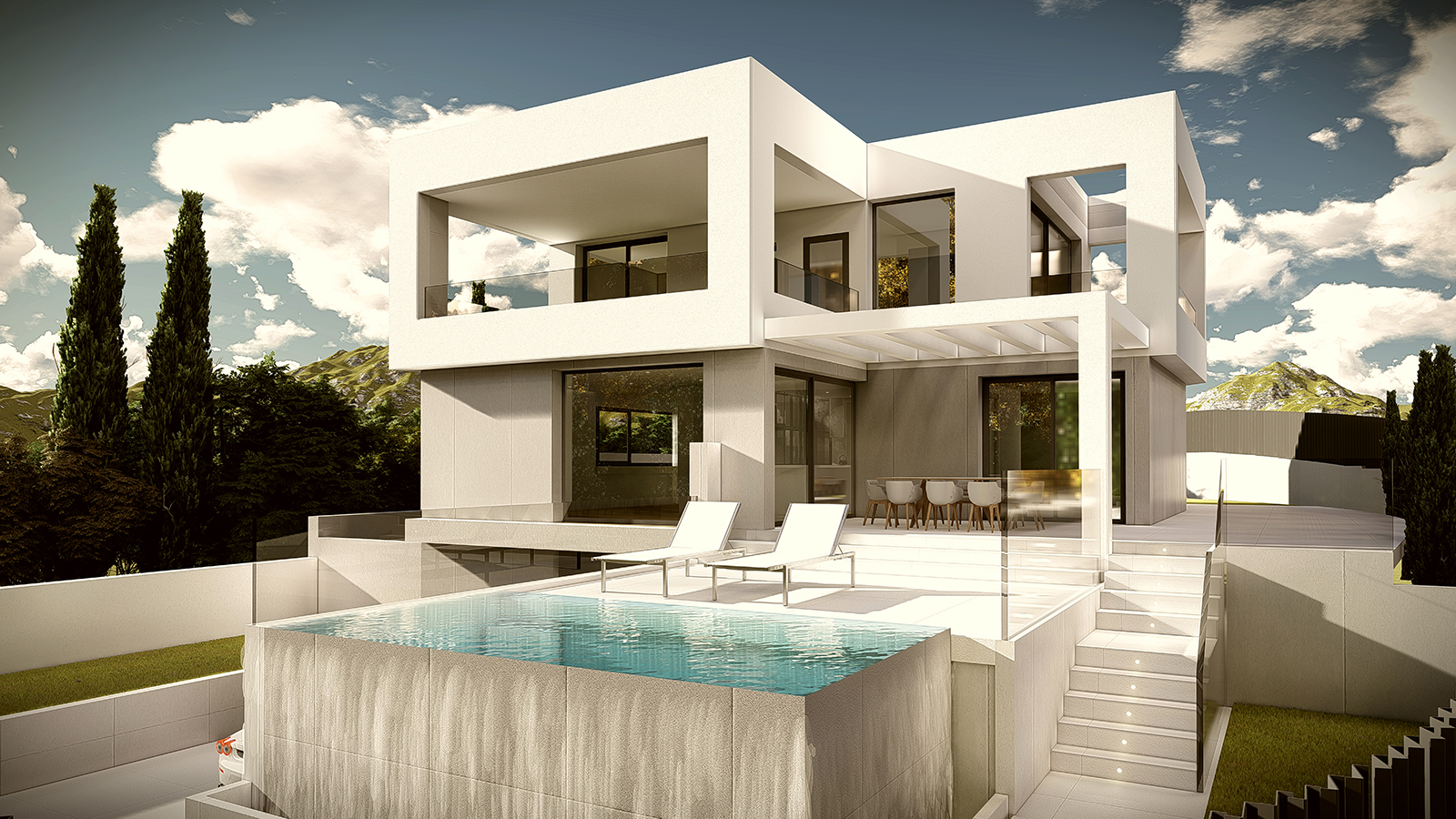 New villa under construction 250 m. from the beach in Costalita