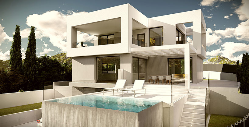 Fantastic new villa under construction 250 m. from the beach in Costalita
