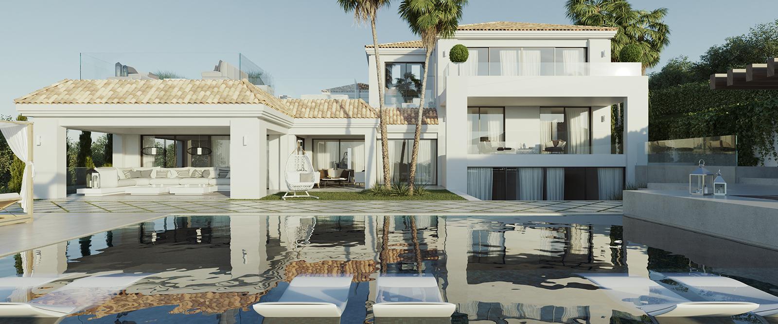 Villa de lujo en primera línea de golf en Nueva Andalucía