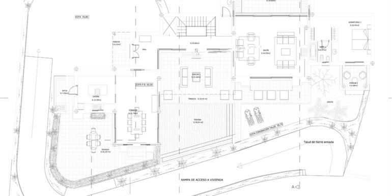 Plano general de las viviendas adosadas